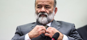 Brasília- DF- Brasil- 09/04/2015-  O tesoureiro do PT, João Vaccari Neto, presta depoimento na CPI da Petrobrás, na Câmara dos Deputados (Marcelo Camargo/Agência Brasil)