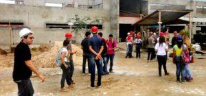 Estudantes visitam obra no campus do IFCE